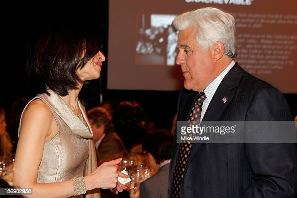Global Director of Equality Now Yasmeen Hassan and Jay Leno attend Equality Now presents Make Equality Reality at Montage Hotel on November 4 2013 in...