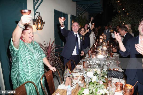 Global Director of Trade Marketing at Absolut Elyx Miranda Dickson and Nick Ede celebrate the wedding of Nick Ede and Andrew Naylor in Los Angeles at...