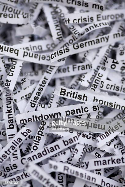 global economy and housing meltdown around the world - bailout stock pictures, royalty-free photos & images