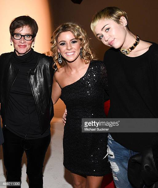 Global Executive Director of the MAC AIDS Fund Nancy Mahon Paige Rawl and singer Miley Cyrus attends MAC Cosmetics And MAC AIDS Fund World Premiere...