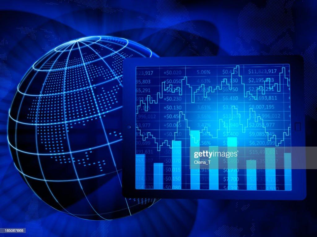 Global finance, North America : Stock Photo