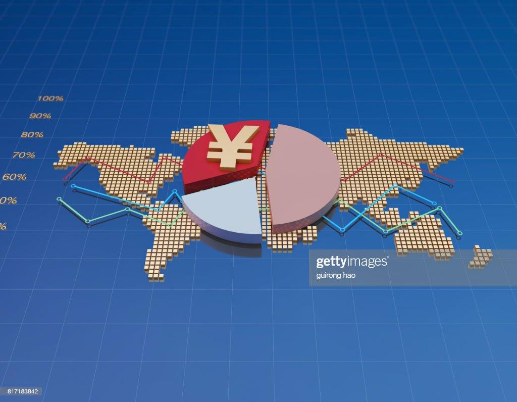 Global Financial Stock Market Data Financial And Monetary Symbols