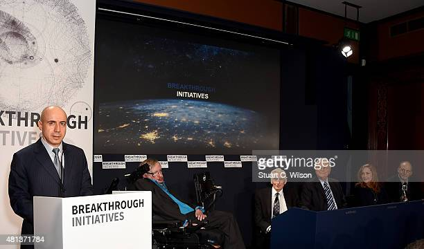 DST Global Founder Yuri Milner Theoretical Physicist Stephen Hawking Cosmologist and astrophysicist Lord Martin Rees Chairman Emeritus SETI Institute...