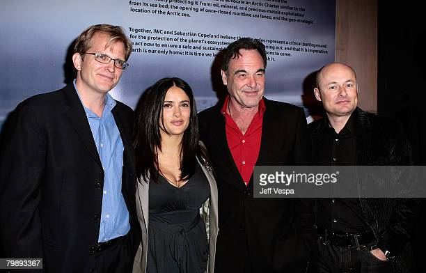Global Green USA CEO Matt Petersen actress/producer Salma Hayek writer/director/producer Oliver Stone and CEO of IWC Georges Kern attend Global Green...