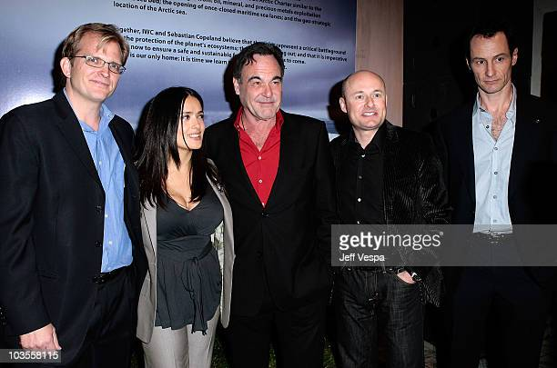 Global Green USA CEO Matt Petersen actress/producer Salma Hayek writer/director/producer Oliver Stone CEO of IWC Georges Kern and photographer...