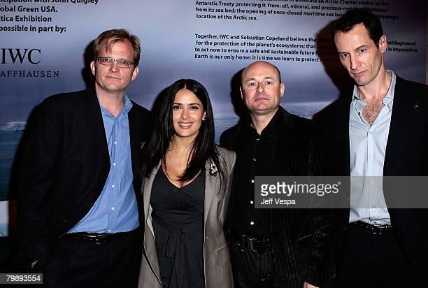 Global Green USA CEO Matt Petersen actress/producer Salma Hayek writer/producer Norman Lear and photographer Sebastian Copeland attend Global Green...