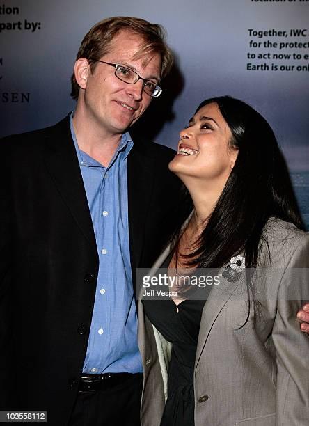 Global Green USA CEO Matt Petersen and actress/producer Salma Hayek attend Global Green USA's 5th Annual Pre Oscar Party raising awareness about...