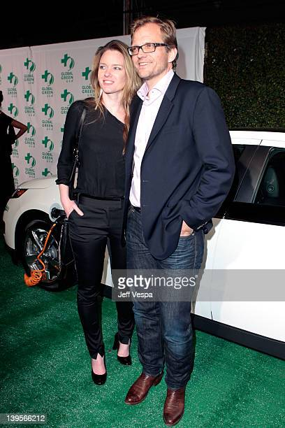 Global Green USA CEO Matt Petersen and writer Justine Musk arrives at Global Green USA's 9th Annual Pre-Oscar Party Supporting Green Schools and...