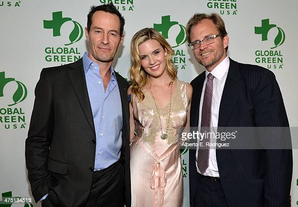 Global Green USA Event CoFounder and Board Member Sebastian Copeland actress Maggie Grace and Global Green USA Event CoFounder and Board Member Matt...