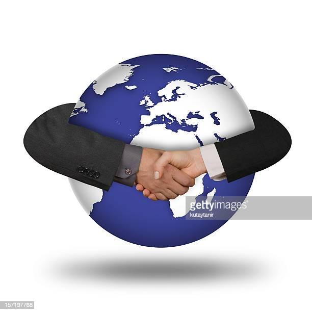 handshake global de - imperialismo fotografías e imágenes de stock