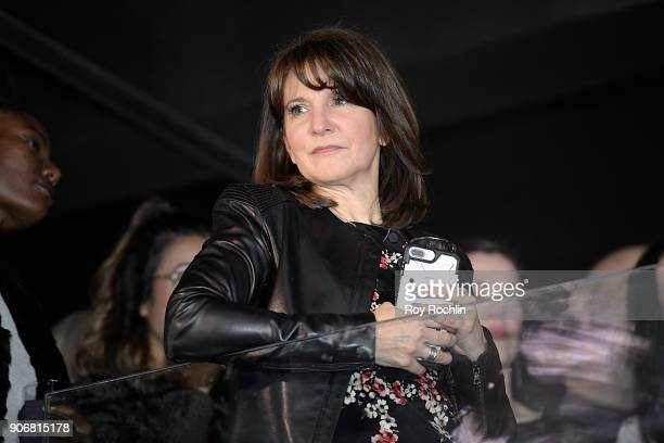 Global Head of Sales at Getty Images Pam Woehrle speaks during the Getty Images 2017 Year In Focus client event on January 18 2018 in New York City