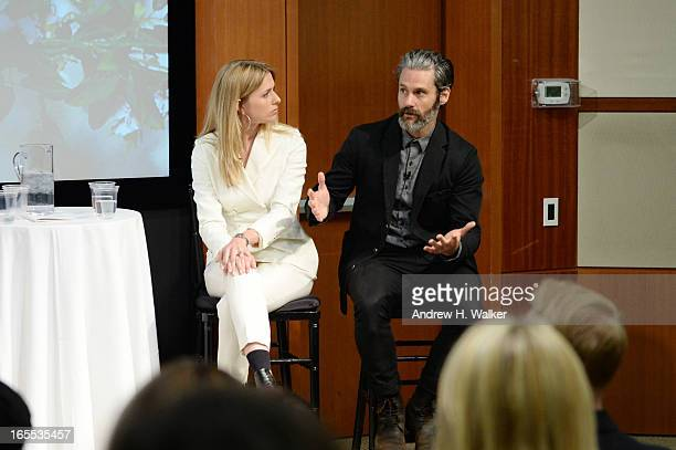 Global Head of Sustainability Helena Helmersson and Loomstate CEO Scott Mackinlay Hahn attend a sustainability panel discussion hosted by HM at Conde...