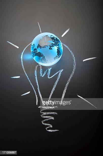 Global ideas and innovation concept