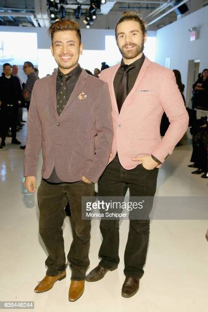 Global Luxury Ambassador Pritan Ambroase and Derick Welsh attend Fashion Hong Kong Fall/Winter 2017 during New York Fashion Week The Shows at Gallery...