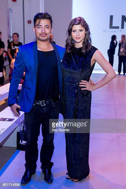 Global Luxury Brand Ambassador Pritan Ambroase and Actress Amber Coney attend the Lisa N Hoang fashion show during New York Fashion Week September...