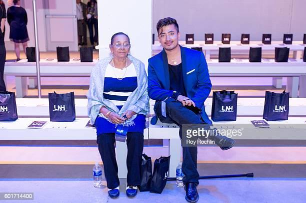 Global Luxury Brand Ambassador Pritan Ambroase and his grandma Suntali attend the Lisa N Hoang fashion show during New York Fashion Week September...