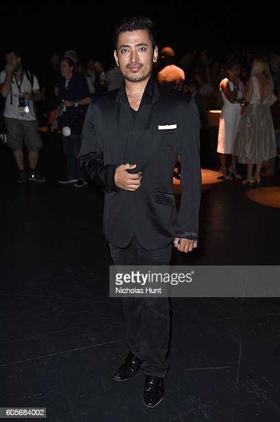 Global luxury brand ambassador Pritan Ambroase attends the Naeem Khan fashion show during New York Fashion Week The Shows at The Arc Skylight at...