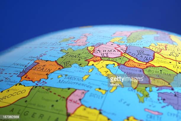 Carte du monde-& pays voisins, en Allemagne
