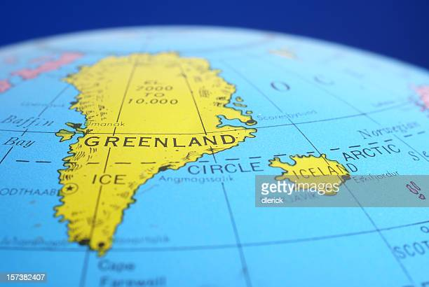 Greenland on world map stock photos and pictures getty images global map greenland amp iceland gumiabroncs Choice Image