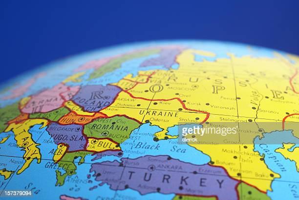 global map-Romania