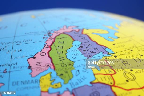 global map-Scandinavian countries