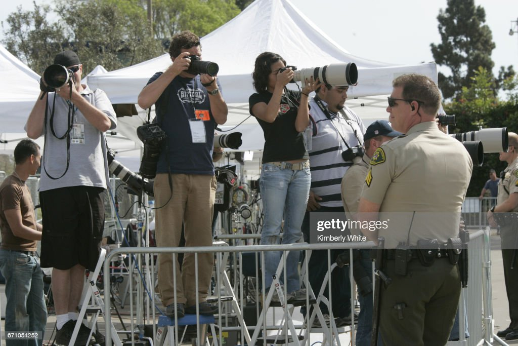 Global media work at pop singer Michael Jackson's child molestation trial at Santa Barbara County Court in Santa Maria.
