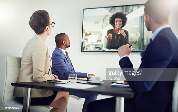 Global meetings held in real time