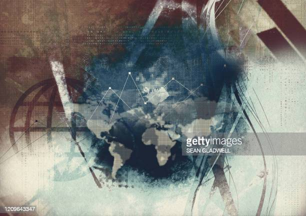 global modern abstract - image manipulation stock pictures, royalty-free photos & images