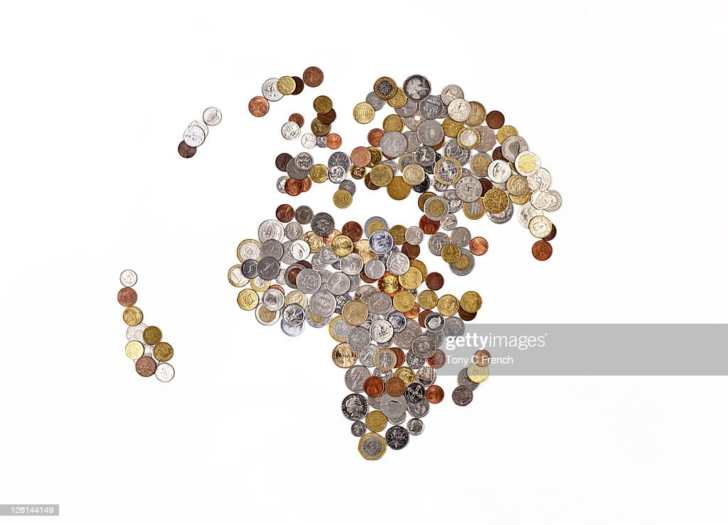 Global money map : Stock Photo