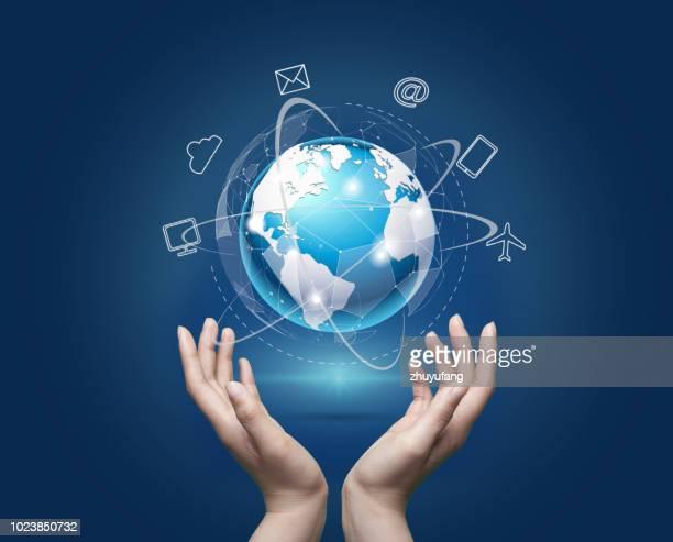 concepto de red global - responsabilidad fotografías e imágenes de stock