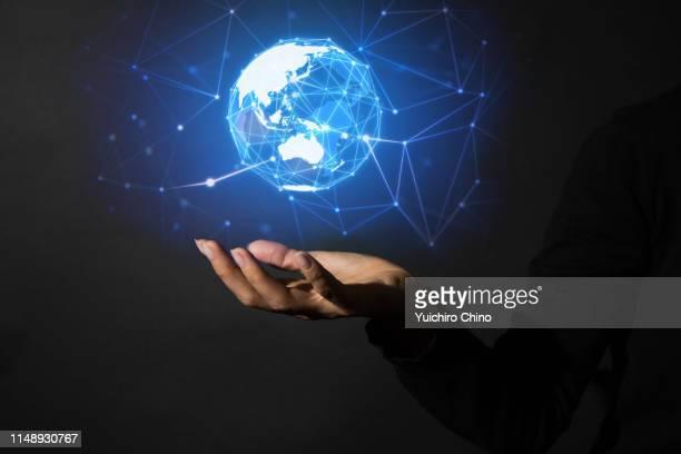 global network - hud graphical user interface fotografías e imágenes de stock