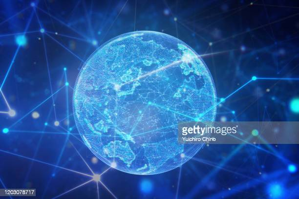 global network - planet earth stock pictures, royalty-free photos & images