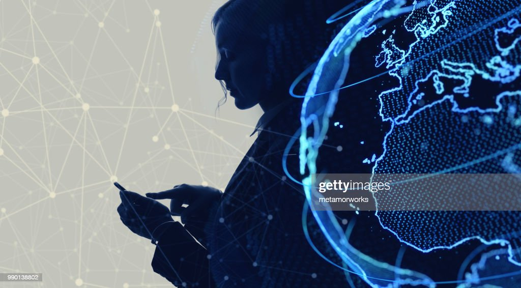 Global netwrok concept. Internet of Things. IoT. : Stock Photo