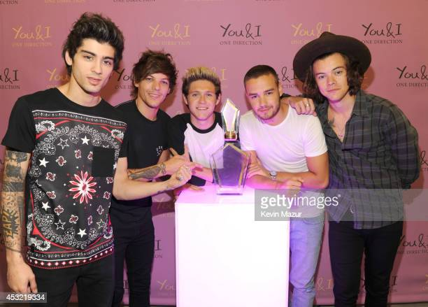 Global pop phenomenon One Direction launch their new fragrance 'You I' at The London NYC Hotel on August 5 ahead of it going on sale worldwide in...