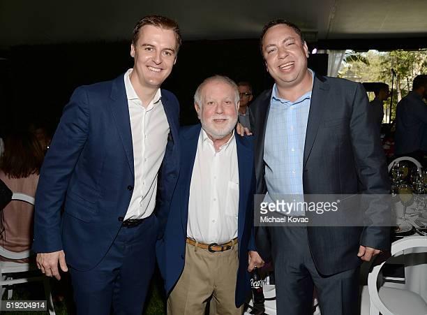 Global Poverty Project CEO Hugh Evans producer Ken Erlich and Vector OMG Partner Eric Ortner attend the 2016 Jane Ortner Education Award Luncheon on...