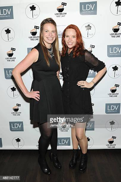 Global Poverty Project US Country Director Justine Lucas and actress Tamzin Merchant attend the Global Poverty Project and LDV Hospitality special...