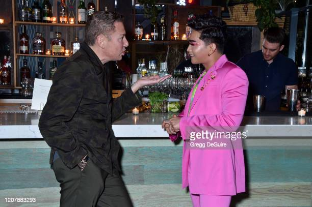 Global President at Markwins Beauty Brands Stefano Curti and Bretman Rock attend Jungle Rock x wet n wild on February 21 2020 in Los Angeles...