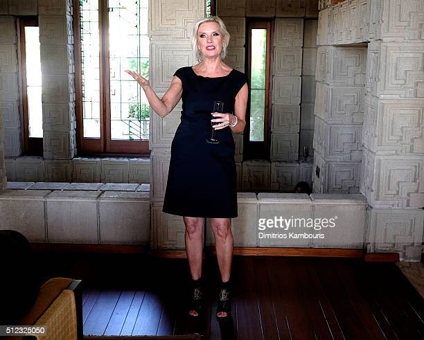 C Global President Karen Buglisi Weiler speaks at the MAC Cosmetics Zac Posen luncheon at the Ennis House hosted by Karen Buglisi Weiler Demi Moore...