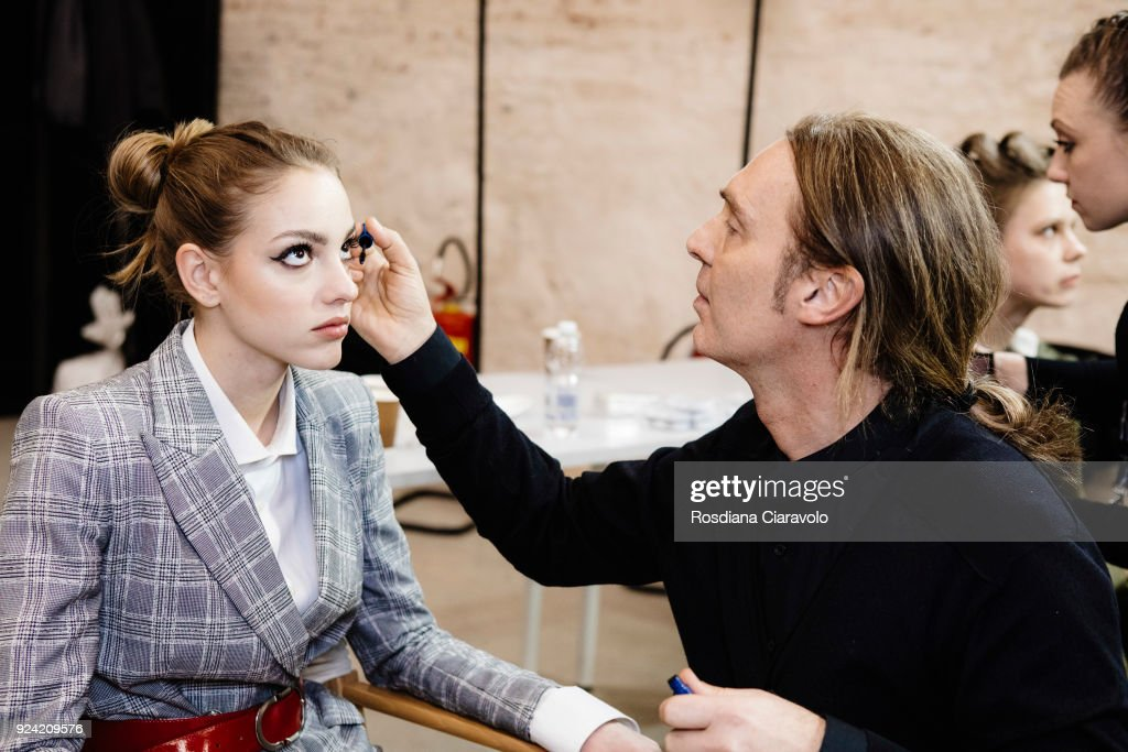 Les Copains - Backstage - Milan Fashion Week Fall/Winter 2018/19 : ニュース写真