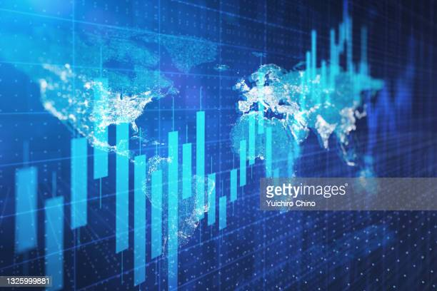 global stock market investment - cryptocurrency stock pictures, royalty-free photos & images