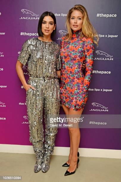 Global superstar/singersongwriter Dua Lipa wearing Balmain and Doutzen Kroes attend the launch of a pioneering tech and music collaboration between...
