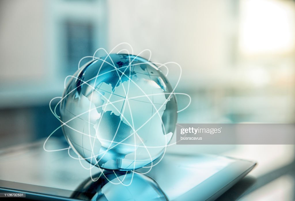 Global transactions with the internet : Stock Photo