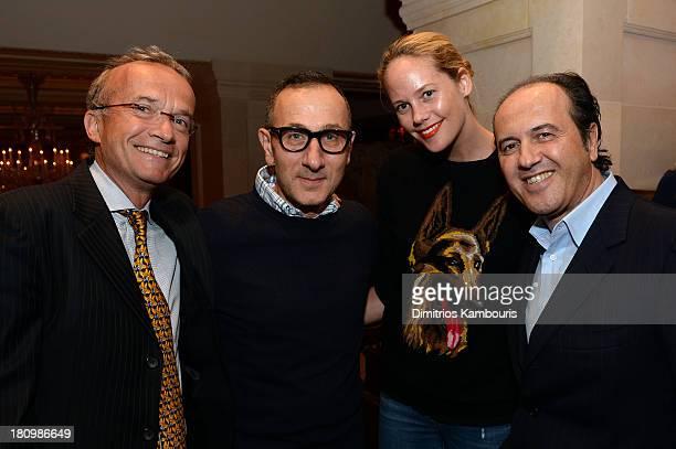 Global Vice Chair of Dentons Francois Chateau designer Gilles Mendel Kylie Case and Prosper Assouline attend ASSOULINE Martine and Prosper Assouline...