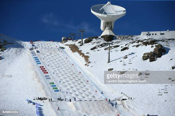 Global view during the FIS Freestyle Ski Snowboard World Championships Moguls on March 08 2017 in Sierra Nevada Spain