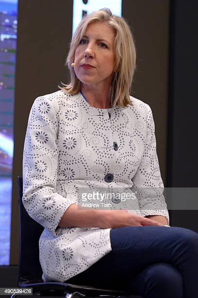 Global VP of Marketing at Appnexus Michele B Weber speaks onstage at the LinkedIn B2B Forum panel during Advertising Week 2015 AWXII at Nasdaq...