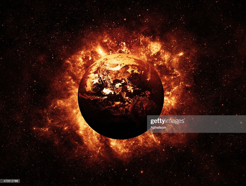 Global Warming - Elements of this Image furnished by NASA : Stock Photo