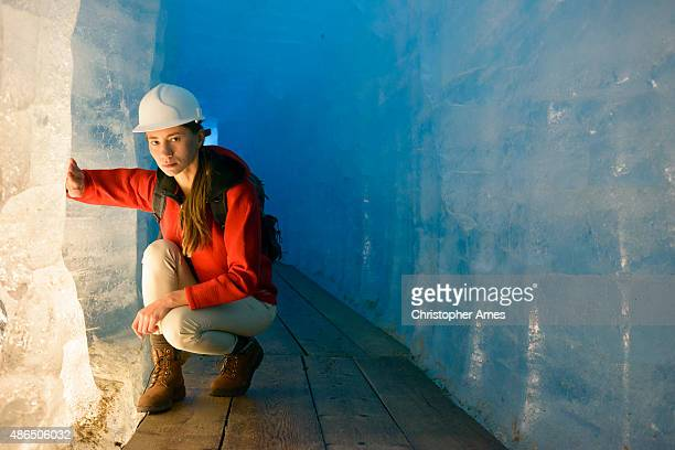 Global Warming: Inspection of Ice in Glacier Interior