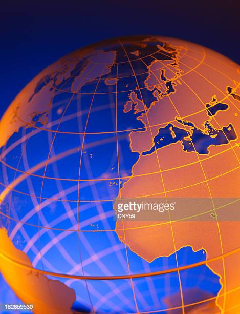 globus 15 - längengrad stock-fotos und bilder