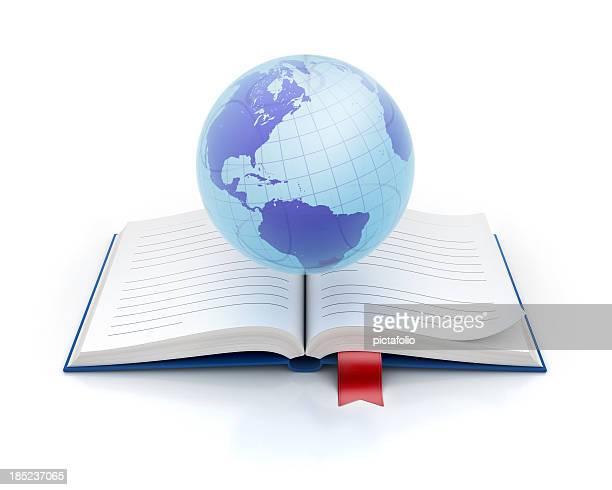 Globus und Buch-Symbol