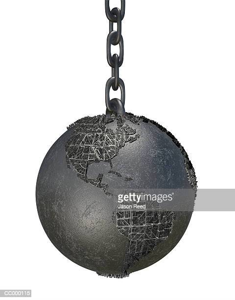 Globe as a Ball and Chain